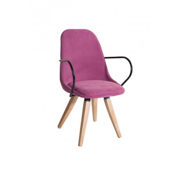 Πολυθρόνα με ξύλινα πόδια 09-0002-1