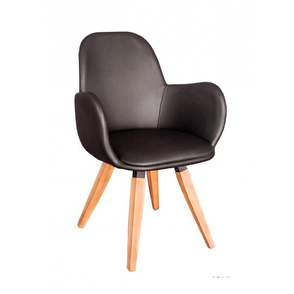 Πολυθρόνα με ξύλινα πόδια 09-0003-1