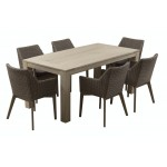Τραπέζι Cancun  παλαιωμένο λευκό 100Χ220
