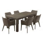 Τραπέζι Cancun παλαιωμένο γκρί 100X220